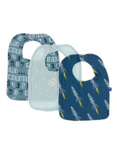 Blue Rockets Bib Set of 3