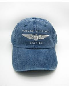 Museum of Flight Faded Navy Wing Cap