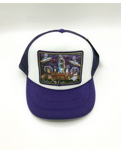 Youth Henry Space Animals Mural Purple & White Cap