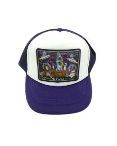 Henry Space Animals Mural Youth Purple Cap