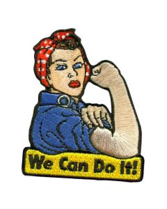 Rosie The Riveter Cut-Out Patch