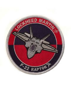 Lockheed Martin F-22 Raptor Round Patch