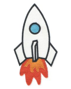 Blast Off Rocket Embroidered Patch