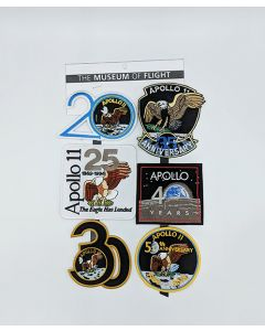 Apollo 11 Anniversaries Patch Set