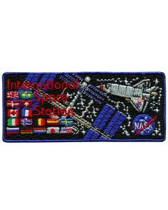 International Space Station Flags Patch