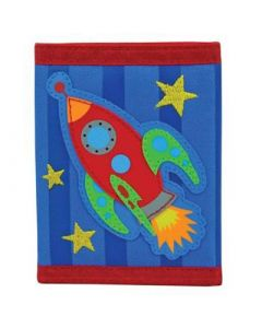 Rocket Blue Striped Wallet