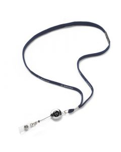 Retractable 787 Lanyard Blue and Chrome