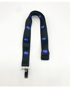 Black NASA Vector Lanyard