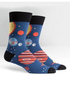 Planets Mens Crew Socks