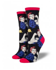 Rosie the Riveter Black Socks
