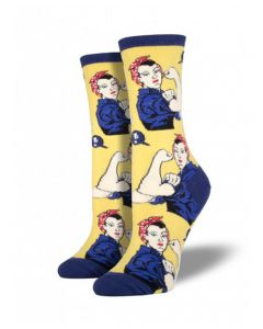Yellow Rosie the Riveter Socks