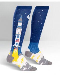 Saturn V Rocket Knee High Socks
