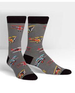 Sky Captain Biplane Crew Socks
