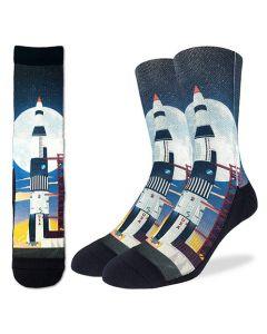 Saturn V Moon Launch Socks