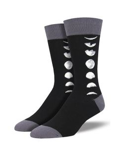 Just A Phase Moon Crew Socks