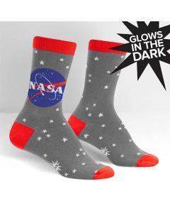 Women's Grey NASA Glow In The Dark Socks