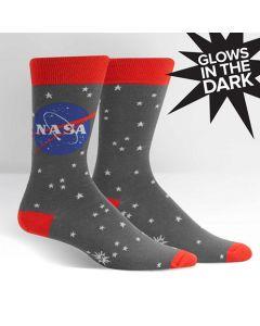 Men's Grey NASA Glow In The Dark Socks