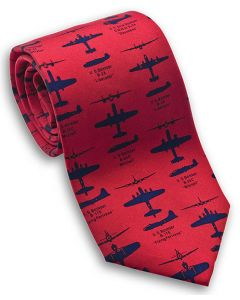 WWII Bombers Red Tie