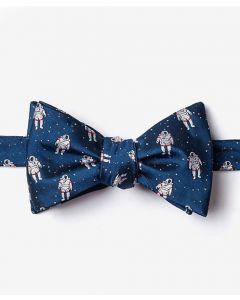 Floating Astronauts Navy Bow Tie
