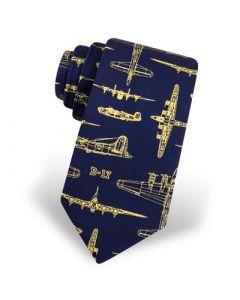 B-24 Liberator & B-17 Flying Fortress Navy Tie
