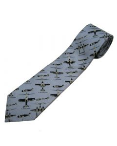 WWII Fighter Plane Spotter Grey Tie