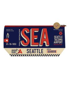 Blue Seattle Luggage Tag Pouch