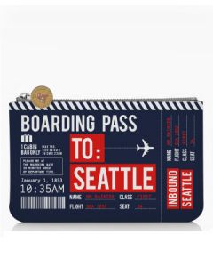Small Seattle Boarding Pass Pouch