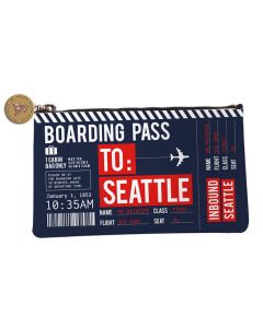 Navy Seattle Boarding Pass Bag