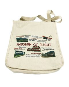 Museum Typography & Icons Cotton Tote Bag