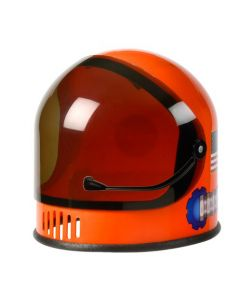 Orange Plastic Youth Astronaut Helmet