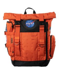 NASA Orange Flight Suit Rolltop Backpack