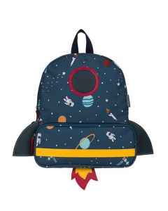 Space Figures Rocketship Shapped Backpack