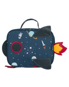 Space Figures Rocketship Shapped Lunch Bag