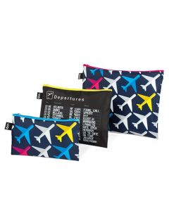 Airport Airplanes Zip Bag Set