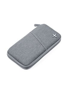 Grey Safe Flight Travel Wallet with RFID