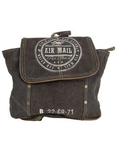Air Mail Par Avion Canvas & Leather Backpack