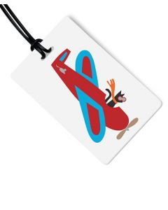 Cat In Plane Luggage Tag