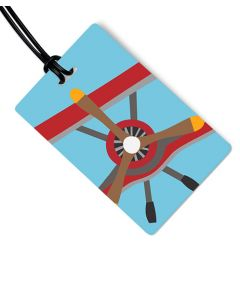 Propeller Plane Luggage Tag