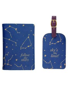 Constellations Passport & Luggage Tag Set