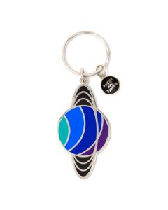 Saturn Enamel Keychain