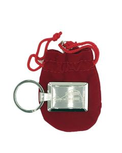 Red Barn Metal Laser Etched Key Ring