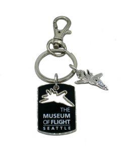 Cutout F-14 Tomcat Dogtag Key Ring
