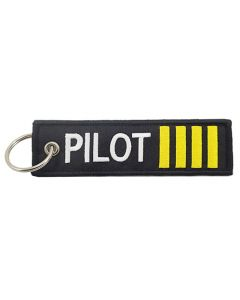 Pilot Stripes Embroidered Keychain