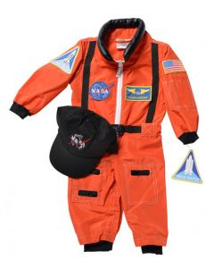 Orange 18 Months Old Astronaut Suit
