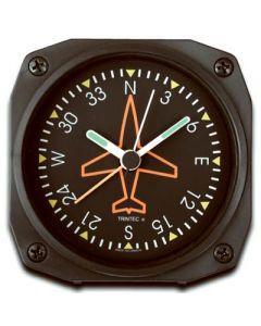"Directional Gyro Alarm Clock 3.5""x3.5"""