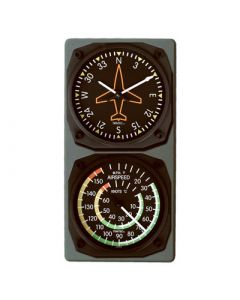 Gyro Directional Airspeed Indicator Combo Clock