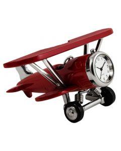 Red Biplane Clock