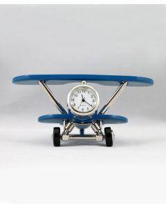Blue Biplane Clock