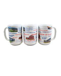 Museum Typography & Icons 15oz Mug