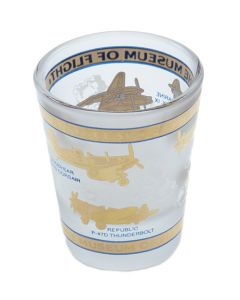 WWII Frosted Shot Glass